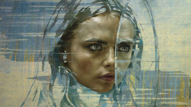 One of Jonathan Yeo's paintings of model Cara Delevingne (Jonathan Yeo/PA Wire)