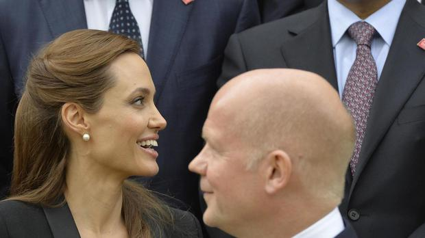 Angela Jolie Pitt and Lord Hague were at the forefront of efforts to treat rape as a war crime