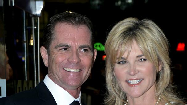 Anthea Turner pictured with Grant Bovey