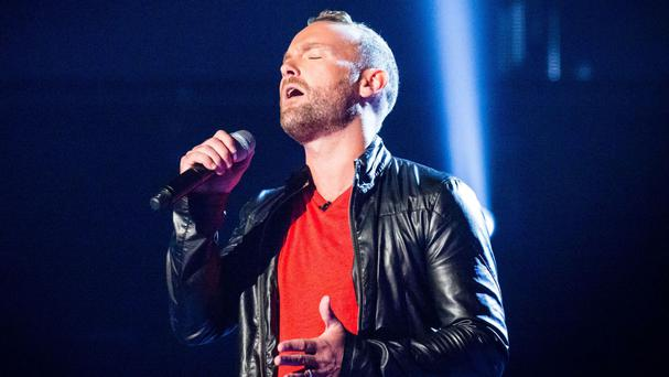 The Voice contestant Kevin Simm was voted into Saturday's live final (BBC/PA)