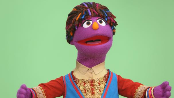 Sesame Street's new Afghan character, a six-year-old girl called Zari (AP)