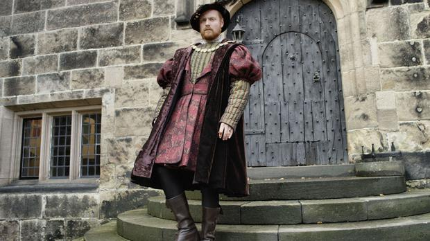 Former Albert Square resident Charlie Clements as Henry VIII (Channel 5/PA)