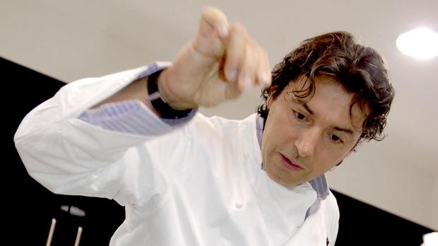 Chef Jean-Christophe Novelli jumped for joy when he was told he would be a father again at the age of 55