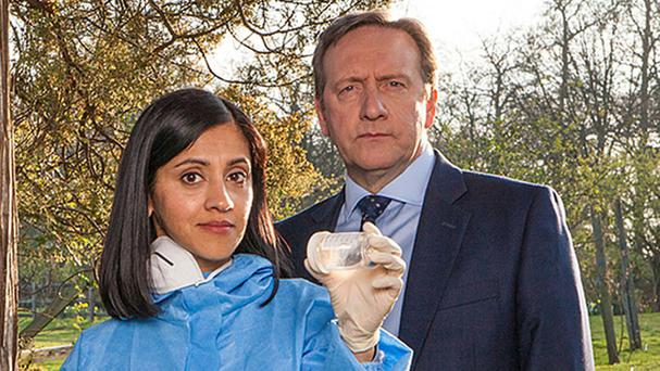 Manjinder Virk (Dr Kam Karimore) and Neil Dudgeon (DCI John Barnaby) will be joined by a new sergeant in the new series of Midsomer Murders (ITV/PA)