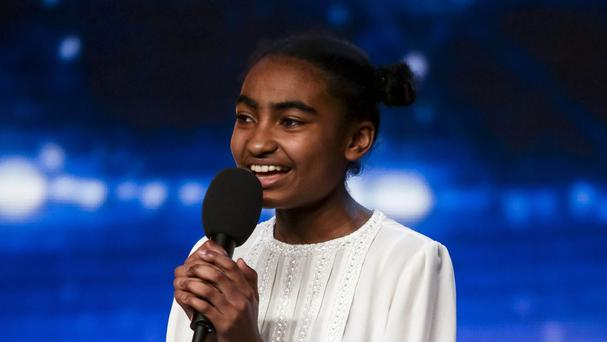Jasmine Elcock, 14, moved Ant and judge Alesha Dixon to tears on Britain's Got Talent (SYCO/THAMES TV/PA Wire)