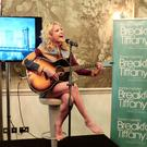 Pixie Lott performs at the press launch for the London West End production of Breakfast At Tiffany's, at the Haymarket Hotel in London (Curve/PA)