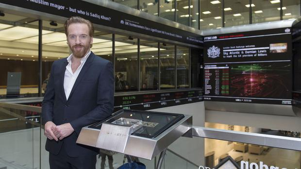 Damian Lewis at the London Stock Exchange ahead of the UK premiere of Billions