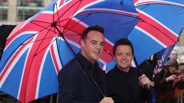 Ant and Dec arrive at the Lowry Theatre in Salford for the Britain's Got Talent auditions.