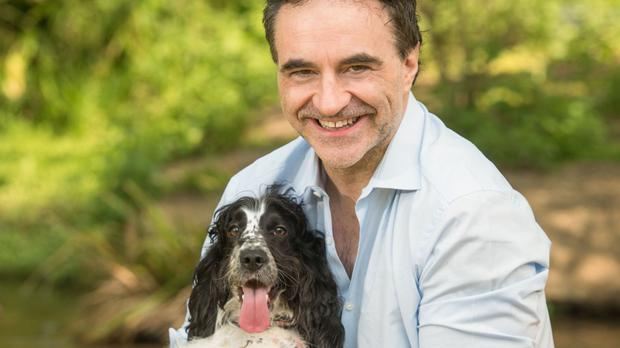 Professor Noel Fitzpatrick with one of his patients, cocker spaniel Cookie (Channel 4)