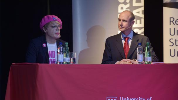 Eddie Izzard and Daniel Hannan took differing views on the EU referendum