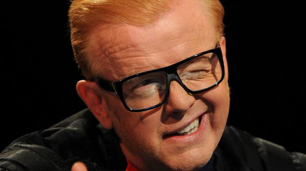 Chris Evans had a cheeky pot shot at Jeremy Clarkson during the first episode of the newly-revamped Top Gear episode