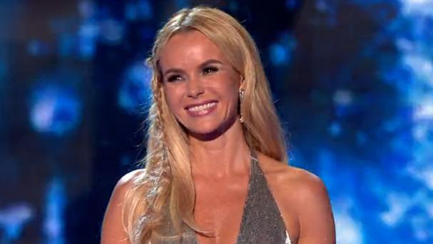 Britain's Got Talent will not be investigated by Ofcom after outfits worn by judges Amanda Holden (pictured) and Alesha Dixon sparked complaints from viewers. (Picture: ITV)