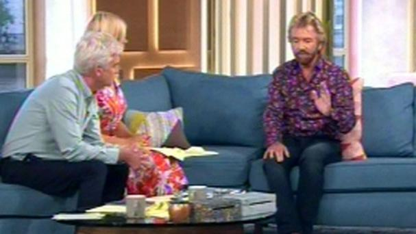 Noel Edmonds appearing on This Morning