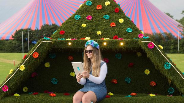 The hi-tech topiary resembles the Pyramid Stage