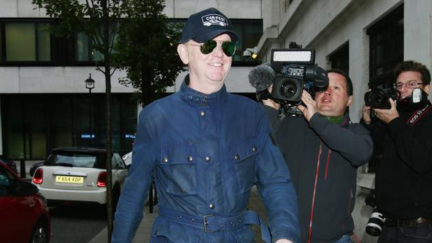 Chris Evans, who has quit Top Gear after just one series, arriving at Broadcasting House in London to present his regular Radio 2 breakfast show
