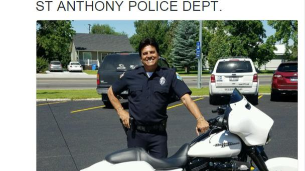 Erik Estrada, who played the part of a TV motorcycle cop, has now joined a real police force
