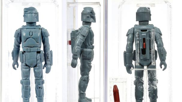 A prototype Boba Fett figure which was never put into production (Vectis Auctions/PA)