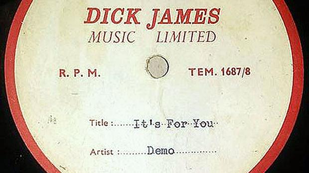 A long-lost Beatles demo disc sent to Cilla Black which has been rediscovered 52 years later (The Beatles Shop/PA)