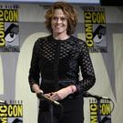 Sigourney Weaver walking on stage at the Aliens: 30th Anniversary panel at Comic-Con International in San Diego (AP)