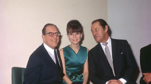 Audrey Hepburn, with My Fair Lady co-stars Stanley Holloway and Rex Harrison, had her voice dubbed by Marni Nixon for some of the musical numbers