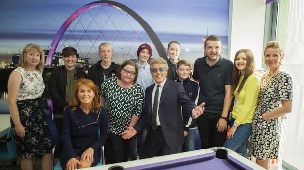 Honorary patrons officially open the new Teenage Cancer Trust unit at the Royal Hospital for Children in Glasgow, Scotland