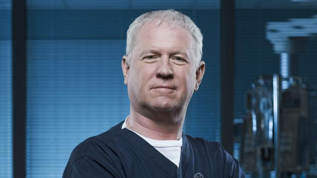 Derek Thompson as Charlie Fairhead in Casualty (BBC/PA Wire)