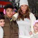 Katie Price with her son Harvey, second left, and two of her other children