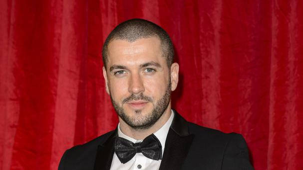 Shayne Ward, who plays Aidan Connor in Coronation Street, attending the British Soap Awards 2016