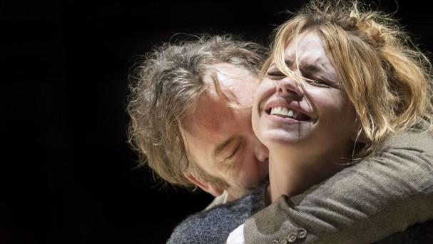 Billie Piper and Brendan Cowell perform in the play Yerma at London's Young Vic (Young Vic/PA Wire)