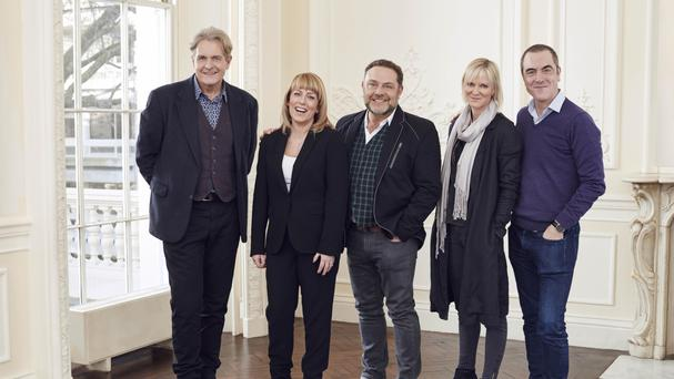 Cold Feet cast members (from the left) Robert Bathurst, Fay Ripley, John Thomson, Hermione Norris and James Nesbitt, as production commenced on the new series (ITV/PA)