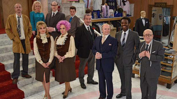 The new cast of Are you Being Served? (BBC/PA)