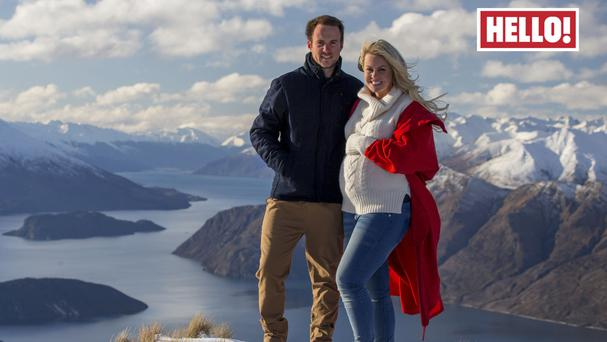 Chemmy Alcott and her husband Dougie Crawford appear in this week's edition of Hello! Magazine (Hello! Magazine/PA)