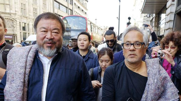 Ai Weiwei, left, and Anish Kapoor are among the four recipients of this year's Lennon Ono Grant For Peace
