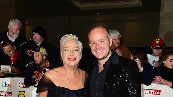 Denise Welch and Lincoln Townley on the red carpet