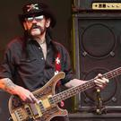 Lemmy performing at Glastonbury last year