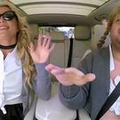 A screengrab of Britney Spears with James Corden on Carpool Karaoke sketch (Youtube/PA)