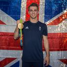 Double Olympic champion gymnast Max Whitlock pulled the lever to switch ITV channels off for an hour