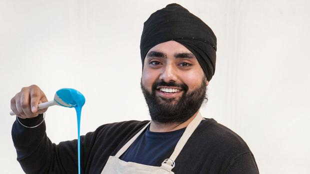 The 28-year-old Sikh has made it through to the third week of the baking programme (BBC/PA Wire)