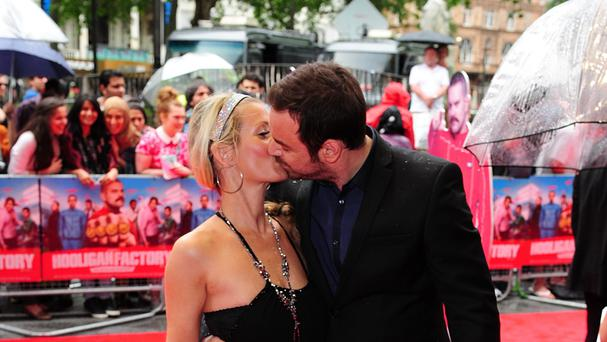 Danny Dyer and Joanne Mas arriving at the The Hooligan Factory Premiere, at The West End Odeon, Leicester Square, London.
