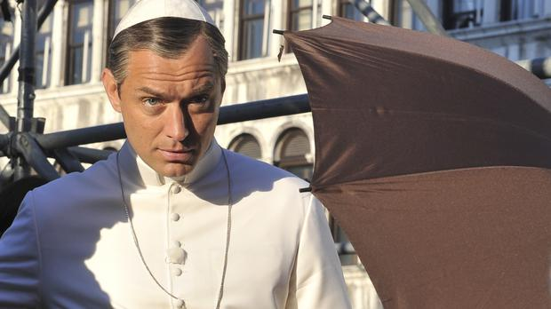 Actor Jude Law as Pope Pius XIII