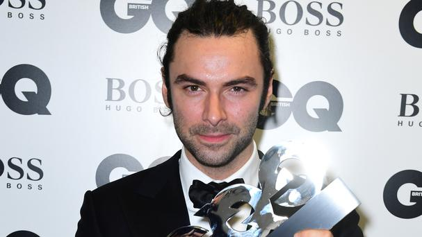 Aidan Turner was crowned best TV actor at the GQ Men of the Year Awards