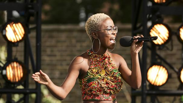 Gifty Louise performing at the bootcamp country house in 2015 (PA/Syco/Thames TV)