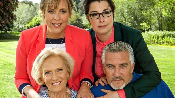 Mel Giedroyc, Sue Perkins, Mary Berry and Paul Hollywood from The Great British Bake Off