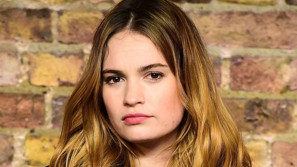 Lily James lost her father to cancer