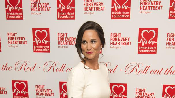 Pippa Middleton at the British Heart Foundation fundraising ball at London's Savoy Hotel