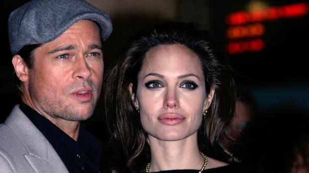 Brad Pitt and his wife Angelina Jolie who are to divorce