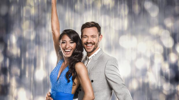 Will Young with his dance partner Karen Clifton (BBC)
