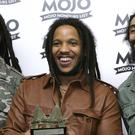 Stephen Marley, centre, with his brothers Julian and Damian