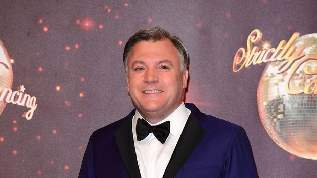 Ed Balls was left red-faced after accidentally asking for a fluffer during a photoshoot for Strictly Come Dancing