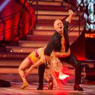 Judge Robert Rinder and Oksana Platero perform their first Strictly Come Dancing routine (PA/BBC)